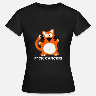 237f7299 Fuck Cancer T Shirt Katzen T-Shirt Brustkrebs T-skjorte for kvinner ...