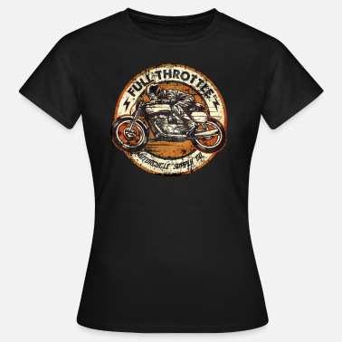 Orangen Biker Shirt Full Throttle retro racer orange classic color - Frauen T-Shirt
