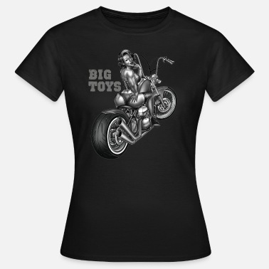 Motorrad Chopper Biker Shirt Big toys pin up custom chopper - Frauen T-Shirt