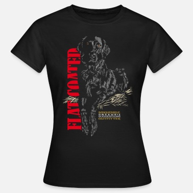 Flat Coated Retriever sitting_flat_coated - Women's T-Shirt