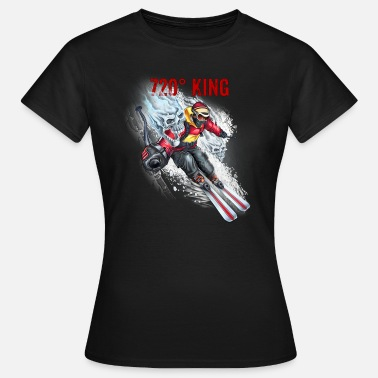 Welt Papa Ski Style 720 KING - RAHMENLOS Winter Sports Christmas - Frauen T-Shirt