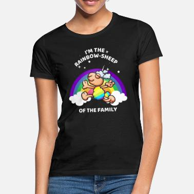 Sheep I Am The Rainbow Sheep Of The Family LGBT - Vrouwen T-shirt