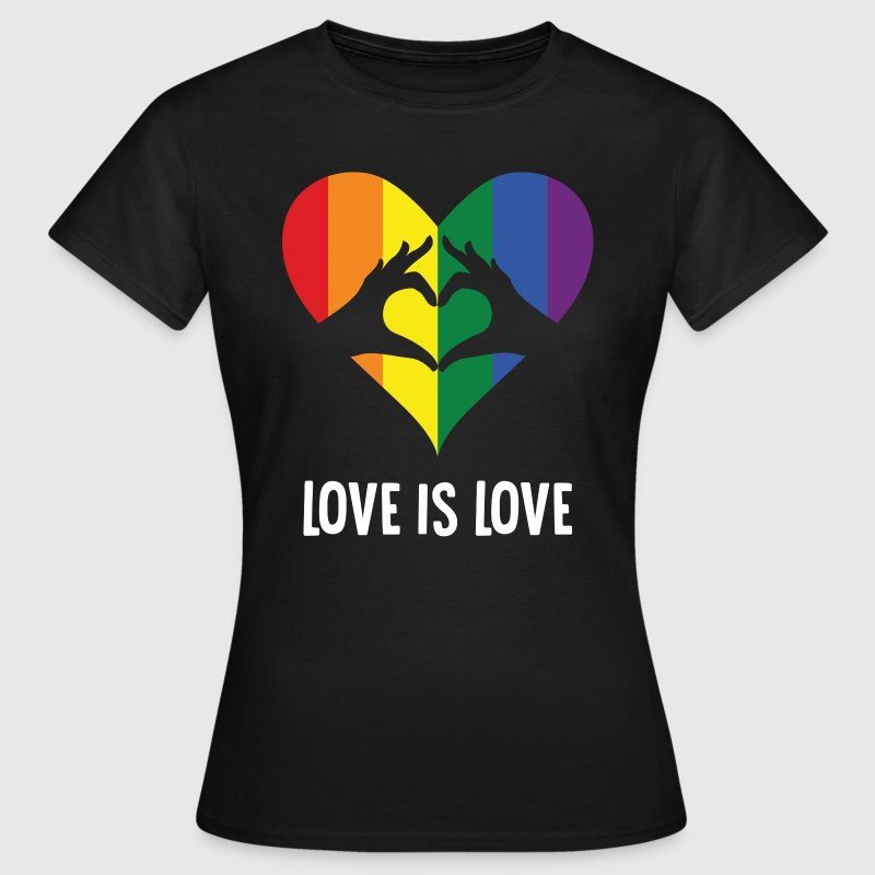 Love Is Love LGBT Rainbow Heart - Women's T-Shirt