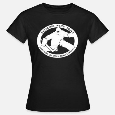 Hockey Netminder Goaltending Wins Championships - Women's T-Shirt