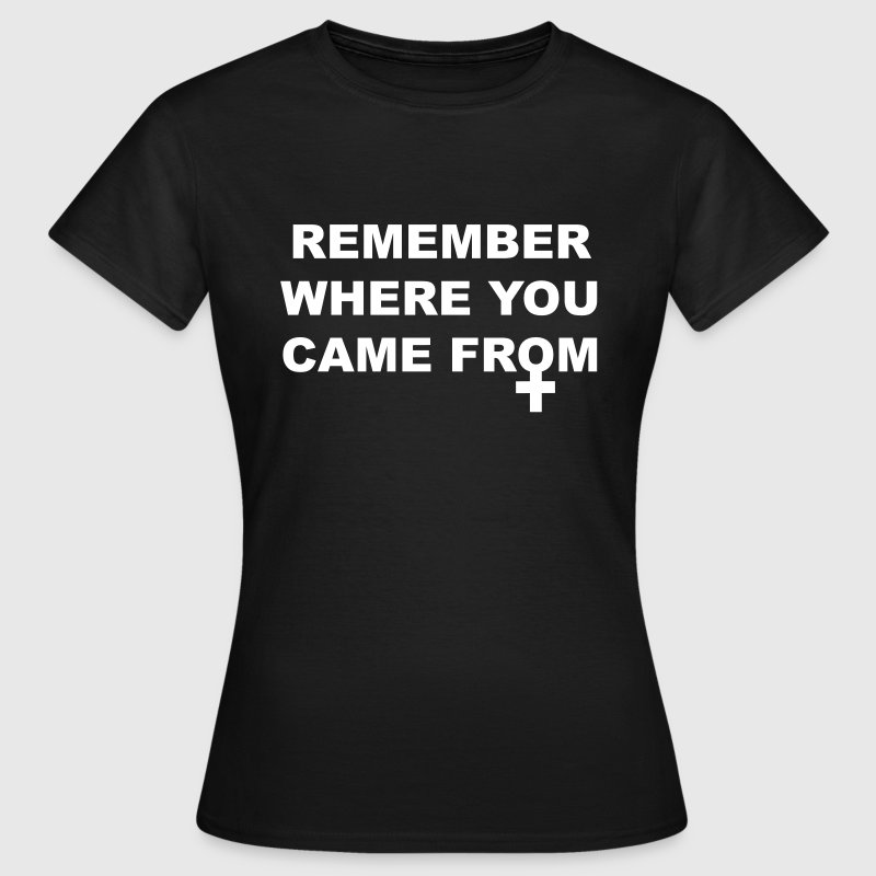 Remember where you came from - T-shirt Femme