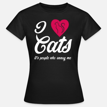 Katzeportrait I love Cats - Frauen T-Shirt