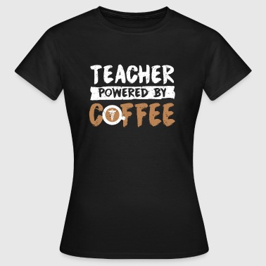 Teacher supported by coffee cool sayings - Women's T-Shirt