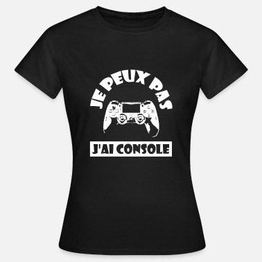 Console Ik kan Console Console-logo wit van console - Vrouwen T-shirt