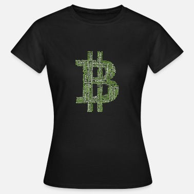 Banking Bitcoin Cryptocurrency Caractères Blockchain - T-shirt Femme