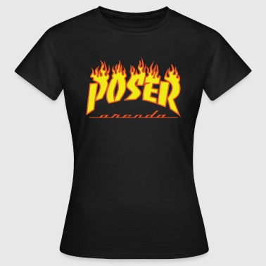 Posers POSER Graphic Poser Flame - Women's T-Shirt