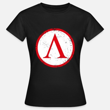 Lakedaimon Spartan shield used - Women's T-Shirt