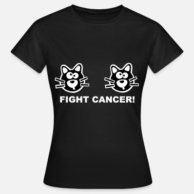 Boobs Sucking Fight Cancer Statement Cat Boobs Cats Mummy - Women's T-Shirt