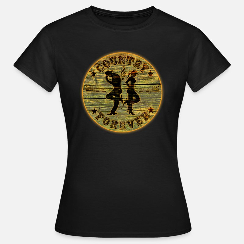 Country T-shirts - country forever - T-shirt Femme noir