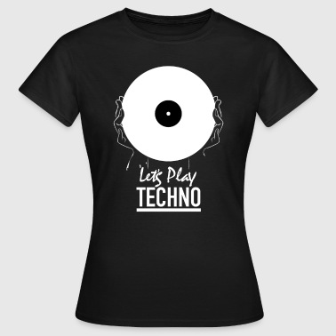 Lad os spille techno - Dame-T-shirt