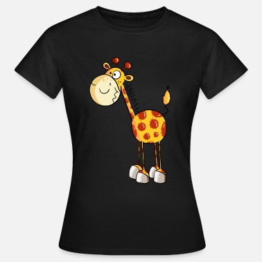 Cartoon Funny Giraffe - Giraffes - Cartoon - Animal - Women's T-Shirt