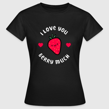 Strawberry love friendship family illustration - Women's T-Shirt