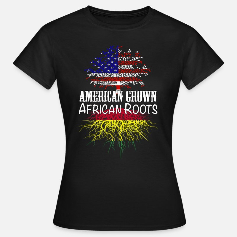 African American T-Shirts - My roots Africa - Women's T-Shirt black
