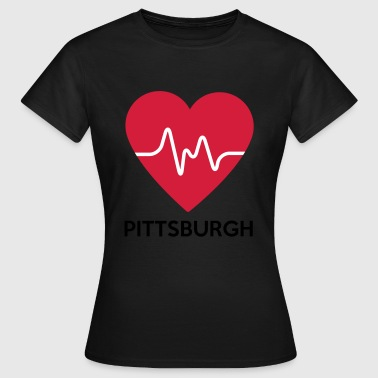 Pittsburgh Coeur Pittsburgh - T-shirt Femme