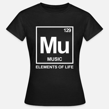 Elements of life: 129 music - Frauen T-Shirt