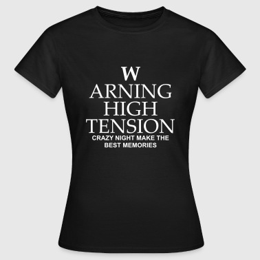 warning high tension - Women's T-Shirt
