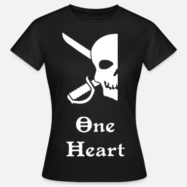 Partnerschaft Pirate Skull Left - Frauen T-Shirt