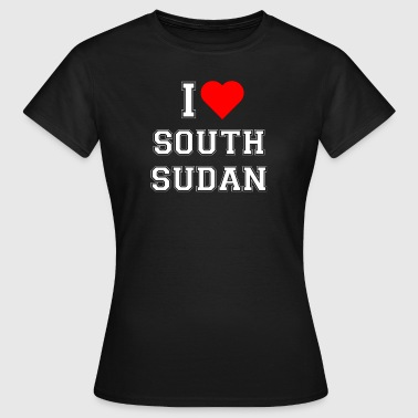 South Sudan I love South Sudan - Women's T-Shirt