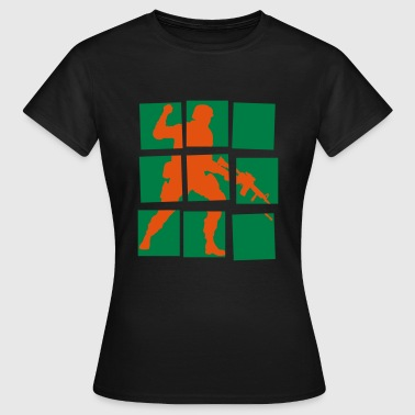 Cold War soldier fight war weapon - Women's T-Shirt
