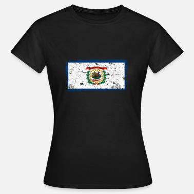 West Virginia West Vintage Vlag Virginia - Vrouwen T-shirt