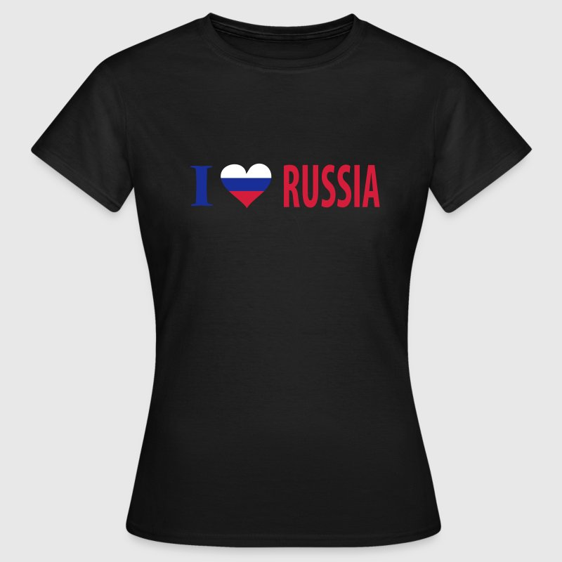 I Love Russia - Frauen T-Shirt