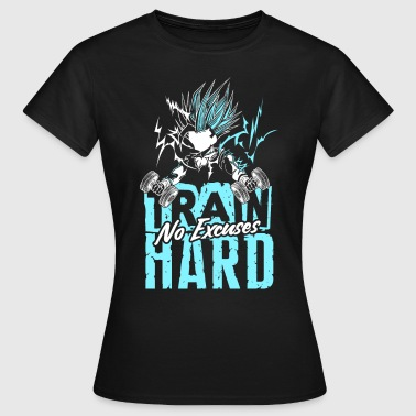 Train hard no excuses t-shirt humour fitness - T-shirt Femme