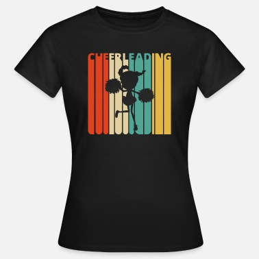 Girls Cheerleading Vintage Retro Cheerleading Gifts. Cheerleader Girl - Women's T-Shirt