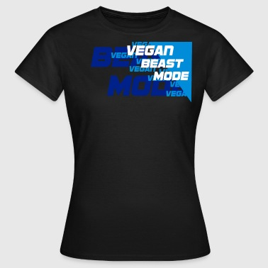 Vegan Beast [blue] - Frauen T-Shirt