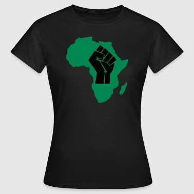 Raised Fist Black Power Africa African - Women's T-Shirt