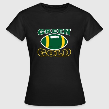 Vert et or Green Bay Team - T-shirt Femme