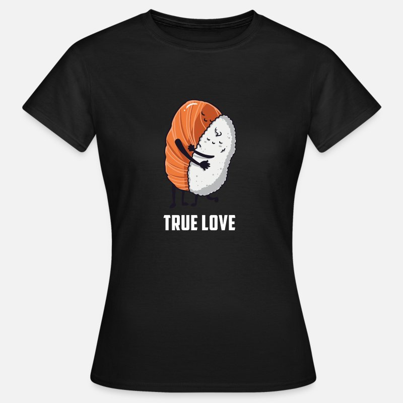 Sushi T-Shirts - Sushi rice gift birthday funny love - Women's T-Shirt black