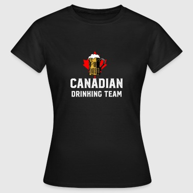 Drinking Leaf Canadian Drinking Team Beer And Maple Leaf Canada - Women's T-Shirt