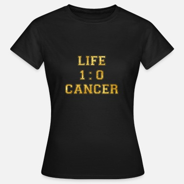 Chemo Sucks 1 to 0 life cancer death breast cancer chemo - Women's T-Shirt