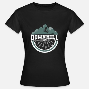 Dirt Jump Downhill bike slopestyle jumps dirt - Women's T-Shirt