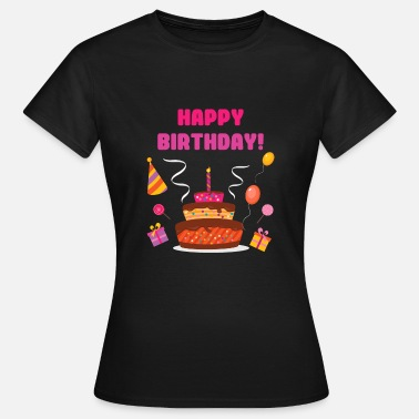 Birthday Camiseta Happy Birthday Engratulations - Camiseta mujer