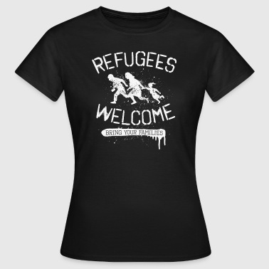 Refugees Welcome - rfgs wlcm  - Frauen T-Shirt