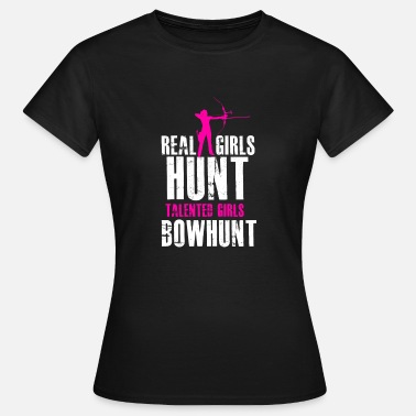 Bowhunter Girls Bowhunter, Girls Bow Hunting, Women Bow Hunter, Huntress - Koszulka damska