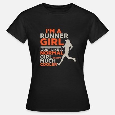 Run Like A Girl Running girl jogging jogging gift idea diet - Women's T-Shirt