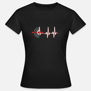 House Record Records heartbeat - Women's T-Shirt