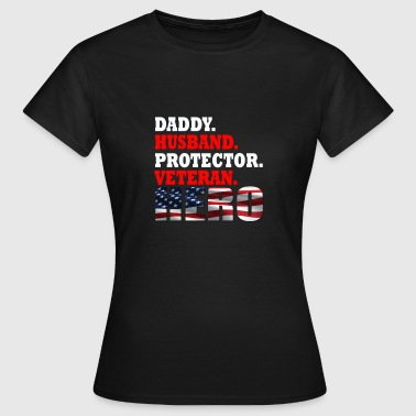 Hero Protector Daddy, Husband, Protector, Veteran, Hero - Women's T-Shirt