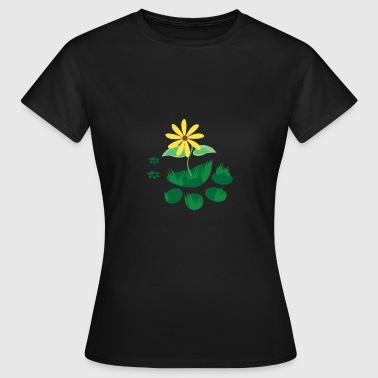 FOOTPRINT Cat Dog Paw Plant Camiseta - Camiseta mujer