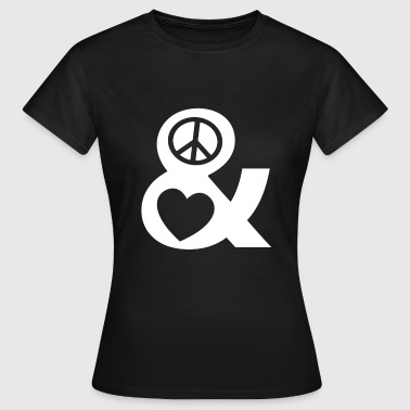 Peace and Love Love and Peace T-shirt Retro - Women's T-Shirt
