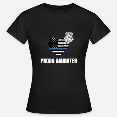 Lapd Thin Blue Line Police Daughter Family Appreciation American Flag - Women's T-Shirt