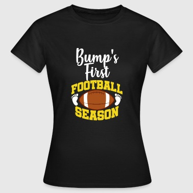 Pregnancy Announcement Football Pregnancy Announcement Baby Shower Regalo - Camiseta mujer