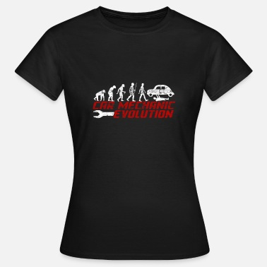 Auto Evolution Auto-Mechaniker-Evolution - Frauen T-Shirt