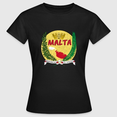 Malta Map Round Gift Homeland Shirt - Women's T-Shirt